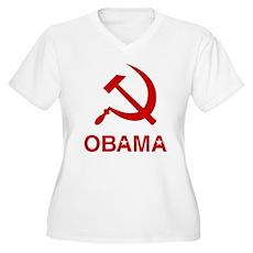 Socialist Obama Plus Size V-Neck Shirt