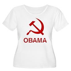 Socialist Obama Womens Plus Size Scoop Neck T-Shi