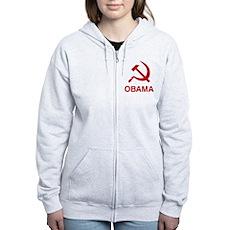 Socialist Obama Womens Zip Hoodie