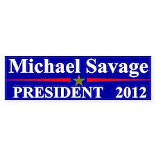 Michael Savage President 2012 Bumper Bumper Sticker
