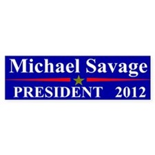 Michael Savage President 2012 Bumper Car Sticker