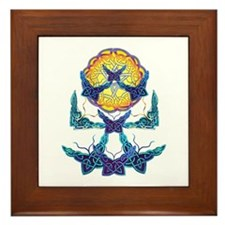 Imbolc Butterflies Framed Tile