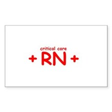Critical Care RN Rectangle Decal