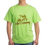 Hot Economy Green T-Shirt