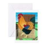 Rooster On Patrol Greeting Cards (Pk of 10)