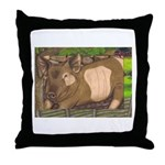 Summer Pig Throw Pillow