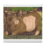 Summer Pig Tile Coaster