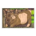 Summer Pig Rectangle Sticker