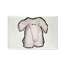 Towel Elephant Rectangle Magnet