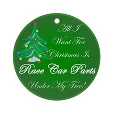 More Race Car Parts Ornament (Round)