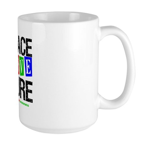 Autism PeaceLoveCure Large Mug