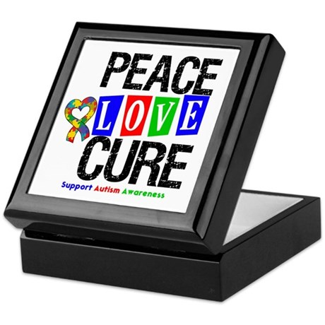 Autism PeaceLoveCure Keepsake Box