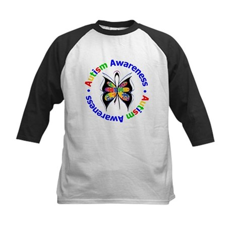 Autism FaithLoveCure Kids Baseball Jersey