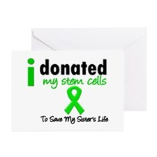 Stem Cell Donor to Sister Greeting Cards (Pk of 20