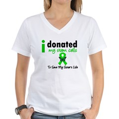 Stem Cell Donor to Sister Women's V-Neck T-Shirt