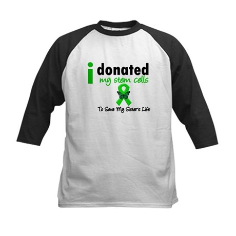 Stem Cell Donor to Sister Kids Baseball Jersey
