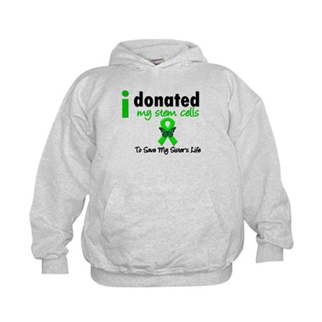 Stem Cell Donor to Sister Kids Hoodie