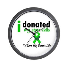 Stem Cell Donor to Sister Wall Clock