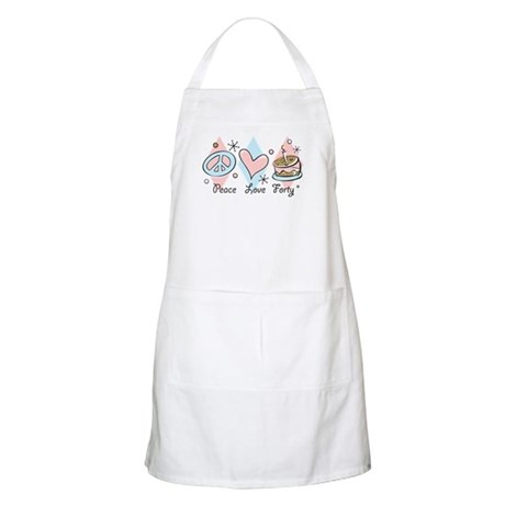 Peace Love 40 BBQ Apron