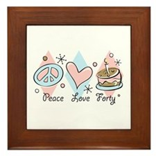 Peace Love 40 Framed Tile