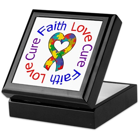 Autism FaithLoveCure Keepsake Box