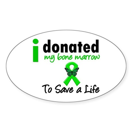 BoneMarrowDonorSaveLife Oval Sticker