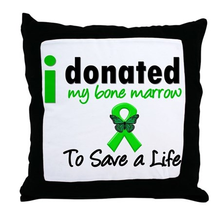 BoneMarrowDonorSaveLife Throw Pillow