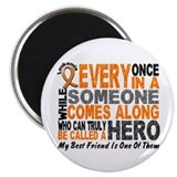 "HERO Comes Along 1 Best Friend LEUK 2.25"" Magnet ("