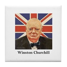 """Winston Churchill"" Tile Coaster"