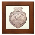 Steamboat Inspector Framed Tile