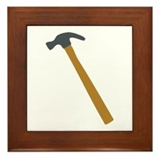 carpenter hammer Framed Tile