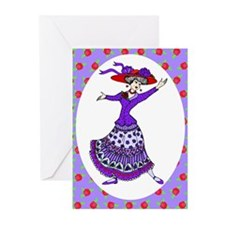 Unique Tea lady Greeting Cards (Pk of 10)