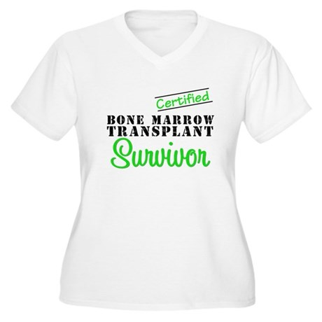 Certified BMT Survivor Women's Plus Size V-Neck T-