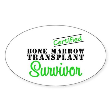Certified BMT Survivor Oval Sticker