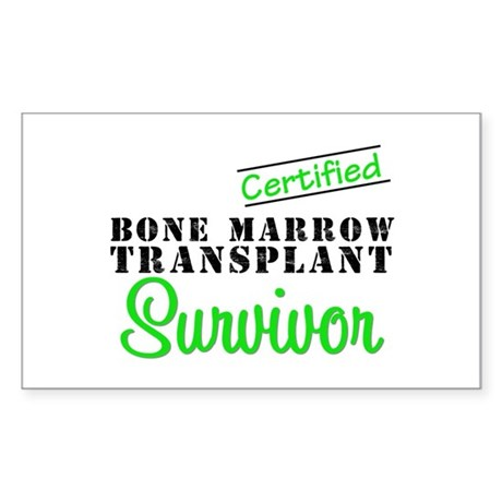 Certified BMT Survivor Rectangle Sticker