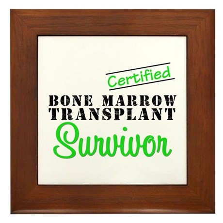 Certified BMT Survivor Framed Tile