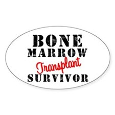 BoneMarrowTransplantSurvivor Oval Sticker (10 pk)