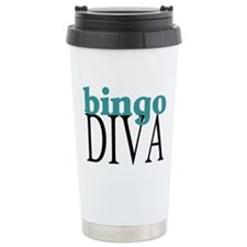 Bingo Diva Ceramic Travel Mug