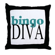 Bingo Diva Throw Pillow