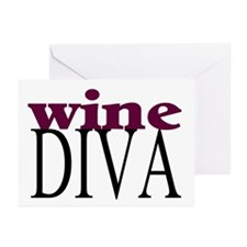 Wine Diva Greeting Cards (Pk of 10)