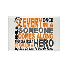 HERO Comes Along 1 Son-In-Law LEUK Rectangle Magne