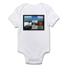 St. Maarten Collage by Khonce Infant Bodysuit