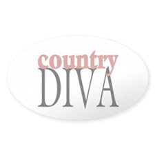 Country Diva Oval Sticker (10 pk)