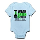 I Wear Green For Wife Infant Bodysuit