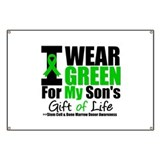 I Wear Green For My Son Banner
