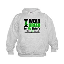 I Wear Green For My Sister Kids Hoodie