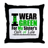 I Wear Green For My Sister Throw Pillow
