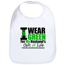 I Wear Green For My Husband Bib
