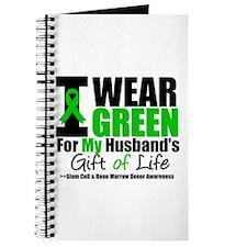 I Wear Green For My Husband Journal