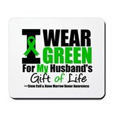 I Wear Green For My Husband Mousepad